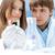 científicos · laboratorio · gripe · virus · tubo · de · ensayo · rojo - foto stock © zurijeta