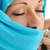 young beautiful muslim woman in blue scarf stock photo © zurijeta