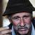 closeup artistic photo of aged man with grey mustache smoking cigarette grain added stock photo © zurijeta