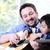 baba · oğul · oynama · gitar · oğul · dikey · atış - stok fotoğraf © zurijeta