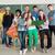csoport · diákok · pózol · együtt · tini · iskolatábla - stock fotó © zurijeta