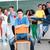 liceum · student · stwarzające · klasie · tle - zdjęcia stock © zurijeta