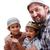 muslim family father and two boys stock photo © zurijeta
