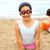 dziewczyna · łopata · ogród · szczęścia · stałego · fotografii - zdjęcia stock © zurijeta