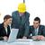 группа · пять · деловые · люди · заседание · работу · бизнесмен - Сток-фото © zurijeta