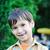 зеленый · лягушка · увеличительного · 3d · иллюстрации · веселый · улыбка - Сток-фото © zurijeta