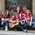 gruppo · cool · adolescenti · chitarra · giocare · strada - foto d'archivio © zurijeta