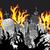 yangın · Alevler · ayarlamak · simgeler · gölge · kare - stok fotoğraf © zuzuan
