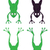 cartoon jumping frog silhouette illustration stock photo © zuzuan