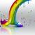 fine · Rainbow · pot · oro · cielo · albero - foto d'archivio © zven0