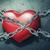 san · valentino · design · cuore · catene · bloccato · amore - foto d'archivio © zven0