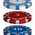 vettore · rosso · bianco · casino · poker · chips · luce - foto d'archivio © zybr78